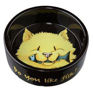 ΠΙΑΤΟ TRIXIE CERAMIC BOWL DO YOU LIKE FISH? (300 ML) pet shop γατα μπολ μπολ