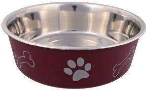 ΠΙΑΤΟ TRIXIE STAINLESS STEEL BOWL PAW (250 ML) pet shop σκυλοσ μπολ μπολ