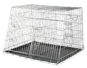 ΚΛΟΥΒΙ ΜΕΤΑΦΟΡΑΣ TRIXIE WIRE ΔΙΠΛΟ ΜΕ ΑΠΟΣΠΩΜΕΝΟ ΔΙΑΧΩΡΙΣΤΙΚΟ pet shop σκυλοσ ειδη μεταφορασ κλουβια μεταφορασ