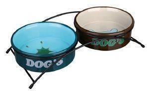 ΒΑΣΗ TRIXIE ΜΕ 2 ΚΕΡΑΜΙΚΑ ΠΙΑΤΑ pet shop σκυλοσ μπολ μπολ