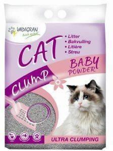 ΑΜΜΟΣ VADIGRAN CAT CLUMP BABY POWDER 15KG pet shop γατα αμμοσ απλεσ
