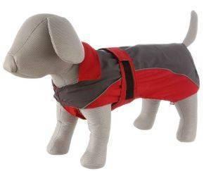 ΑΔΙΑΒΡΟΧΟ ΠΑΛΤΟ TRIXIE LORIENT ΓΚΡΙ-ΚΟΚΚΙΝΟ (XS-30CM) pet shop σκυλοσ ενδυση παλτο