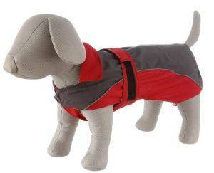 ΑΔΙΑΒΡΟΧΟ ΠΑΛΤΟ TRIXIE LORIENT ΓΚΡΙ-ΚΟΚΚΙΝΟ (XL-70CM) pet shop σκυλοσ ενδυση παλτο