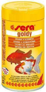 ΕΙΔΙΚΗ ΤΡΟΦΗ ΧΡΥΣΟΨΑΡΩΝ - ΨΑΡΙΩΝ ΛΙΜΝΩΝ SERA GOLDY ΣΕ ΝΙΦΑΔΕΣ (250ML) pet shop ψαρι τροφεσ χρυσοψαρα κοι