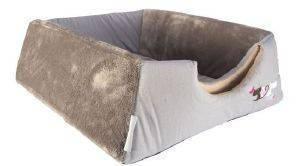 ΦΩΛΙΑ - ΚΡΕΒΑΤΙ ROGZ IGLOO HEART TAILS ΓΚΡΙ (40X32X80CM) pet shop γατα στρωματα κρεβατια φωλιεσ