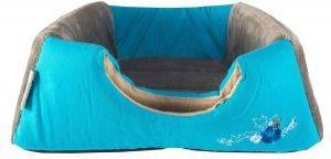 ΦΩΛΙΑ - ΚΡΕΒΑΤΙ ROGZ IGLOO BLUE FLORAL ΜΠΛΕ (40X32X80CM) pet shop γατα στρωματα κρεβατια φωλιεσ