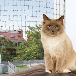 ΔΙΧΤΥ ΠΡΟΣΤΑΣΙΑΣ TRIXIE ΠΡΑΣΙΝΟ (4 Χ 3 M) pet shop γατα υγιεινη ασφαλεια προστατευτικα πλεγματα