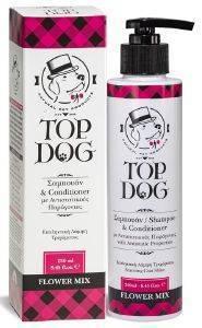 ΣΑΜΠΟΥΑΝ ΣΚΥΛΟΥ TOPDOG ΦΥΤΙΚΟ FLOWER MIX 250ML pet shop σκυλοσ υγιεινη περιποιηση σαμπουαν