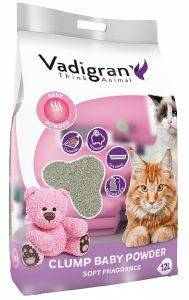 ΑΜΜΟΣ ΣΥΓΚΟΛΛΗΤΙΚΗ VADIGRAN BABY POWDER 12KG pet shop γατα αμμοσ συγκολλητικεσ