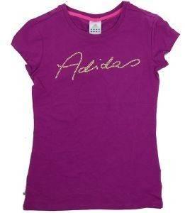 ΜΠΛΟΥΖΑΚΙ ADIDAS PERFORMANCE GLASS LINEAGE ΜΩΒ (XS) αθλητικά είδη sportswear γυναικα ενδυση t shirts