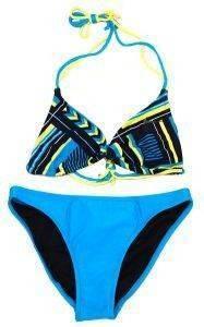 ΜΑΓΙΟ BUTT LOGO BIKINI ΓΑΛΑΖΙΟ/ΜΠΛΕ αθλητικά είδη beachwear γυναικα ενδυση μαγιο bikini set