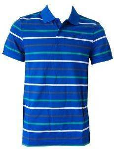 ΜΠΛΟΥΖΑ CLUB MULTICOLOR STR POLO ΜΠΛΕ (L)