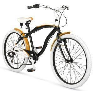 ΠΟΔΗΛΑΤΟ MBM MAUI 26  ΜΑΥΡΟ ΚΙΤΡΙΝΟ Ανδρικό ποδήλατο cruiser από τη σειρά Maui της MBM  Δίνοντας βάρος στην αισθητική προσφέρεται για βόλτες με στυλ πόλη ή την εξοχή Διατίθεται σε κομψές