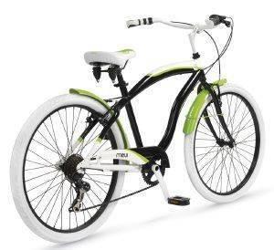 ΠΟΔΗΛΑΤΟ MBM MAUI 26  ΜΑΥΡΟ ΠΡΑΣΙΝΟ Ανδρικό ποδήλατο cruiser από τη σειρά Maui της MBM  Δίνοντας βάρος στην αισθητική προσφέρεται για βόλτες με στυλ πόλη ή την εξοχή Διατίθεται σε κομψές