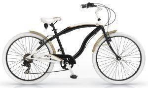 ΠΟΔΗΛΑΤΟ MBM MAUI 26  ΜΑΥΡΟ ΜΠΕΖ Ανδρικό ποδήλατο cruiser από τη σειρά Maui της MBM  Δίνοντας βάρος στην αισθητική προσφέρεται για βόλτες με στυλ πόλη ή την εξοχή Διατίθεται σε κομψές