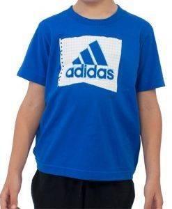 ΜΠΛΟΥΖΑ ADIDAS PERFORMANCE YB GRAPH SCHOOL ΜΠΛΕ αθλητικά είδη sportswear παιδι ενδυση t shirts