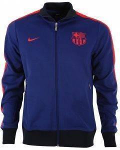 JACKET NIKE FC BARCELONA AUTHENTIC N98 ΜΠΛΕ/ΚΟΚΚΙΝΟ (S) aθλητικά είδη ποδοσφαιρο ανδρασ ενδυση jackets