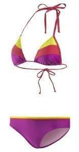 ΜΑΓΙΟ ADIDAS PERFORMANCE COLORBLOCK ΒΙΚΙΝΙ ΚΙΤΡΙΝΟ/ΚΟΚΚΙΝΟ/ΜΩΒ (36) αθλητικά είδη beachwear γυναικα ενδυση μαγιο bikini set