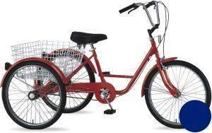 ΠΟΔΗΛΑΤΟ ORIENT ΤΡΙΚΥΚΛΟ 24  ΜΠΛΕ Γοητευτικό και ιδιαίτερα λειτουργικό  τρίκυκλο ποδήλατο από τη ORIENT Με το αναπαυτικό κάθισμα μεγάλο καλάθι που διαθέτει είναι ιδανικό για τα ψώνια σ