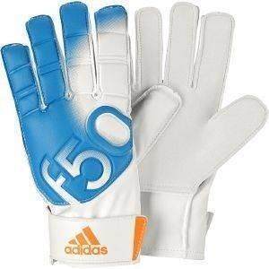 ΓΑΝΤΙΑ ADIDAS F50 TRAINING ΛΕΥΚΑ ΓΑΛΑΖΙΑ Η μπάλα θα μείνει εκτός τέρματος με τα νέα γάντια F50 Training της Adidas  Διαθέτουν παλάμη μαλακό grip για να διευκολύνεται το σταθερό μπλοκάρισμα εσ