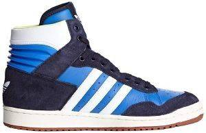 ΠΑΠΟΥΤΣΙ ADIDAS ORIGINALS PRO CONFERENCE HI LEATHER ΜΠΛΕ/ΛΕΥΚΟ (UK:12.5, EU:48)