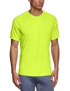 ΜΠΛΟΥΖΑ NIKE MILER UV ΚΙΤΡΙΝΗ αθλητικά είδη running ανδρασ ενδυση t shirts