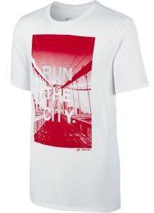 ΜΠΛΟΥΖΑ NIKE RUN THE CITY TEE ΛΕΥΚΗ/ΚΟΚΚΙΝΗ αθλητικά είδη training ανδρασ ενδυση t shirts