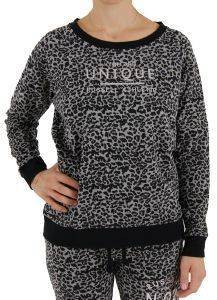 ΜΠΛΟΥΖΑ RUSSELL CREW NECK SWEAT ANIMAL PRINT ΜΑΥΡΗ