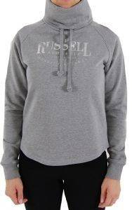 ΜΠΛΟΥΖΑ RUSSELL HIGH NECK RAGLAN SWEAT IN FASHION ΓΚΡΙ
