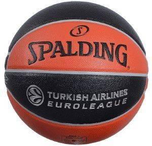 ΜΠΑΛΑ SPALDING EUROLEAGUE OFFICIAL REPLICA INDOOR/OUTDOOR ΜΑΥΡΗ/ΠΟΡΤΟΚΑΛΙ (7) aθλητικά είδη μπασκετ εξοπλισμοσ μπαλεσ