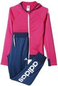 ΦΟΡΜΑ ADIDAS PERFORMANCE SEPARATES TRACK SUIT ΡΟΖ/ΜΠΛΕ αθλητικά είδη sportswear παιδι ενδυση φορμεσ
