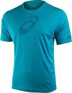 ΜΠΛΟΥΖΑ ASICS SS GRAPHIC TOP ΜΠΛΕ αθλητικά είδη running ανδρασ ενδυση t shirts