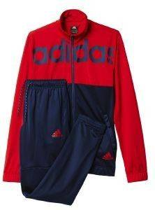 ΦΟΡΜΑ ADIDAS PERFORMANCE BACK-TO-SCHOOL TRACK SUIT ΜΠΛΕ/ΚΟΚΚΙΝΗ