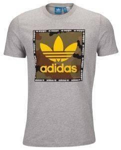 ΜΠΛΟΥΖΑ ADIDAS ORIGINALS CAMOUFLAGE BOX TEE ΓΚΡΙ αθλητικά είδη sportswear ανδρασ ενδυση t shirts
