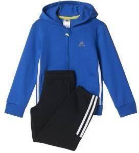 ΦΟΡΜΑ ADIDAS PERFORMANCE ESSENTIALS HOJO TRACK SUIT ΜΠΛΕ/ΜΑΥΡΗ αθλητικά είδη sportswear παιδι ενδυση φορμεσ