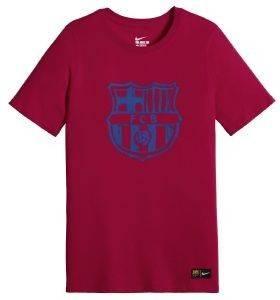 ΜΠΛΟΥΖΑ NIKE FC BARCELONA CREST TEE ΚΟΚΚΙΝΗ αθλητικά είδη ποδοσφαιρο ανδρασ ενδυση t shirts