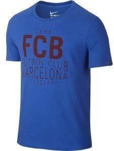 ΜΠΛΟΥΖΑ NIKE FC BARCELONA SUQAD TEE ΜΠΛΕ ΡΟΥΑ αθλητικά είδη ποδοσφαιρο ανδρασ ενδυση t shirts