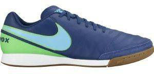 ΠΑΠΟΥΤΣΙ NIKE TIEMPOX GENIO II LEATHER INDOOR (IC) ΜΠΛΕ (USA:7.5, EU:40.5)