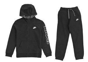 ΦΟΡΜΑ NIKE SPORTSWEAR CLUB WARM-UP TRACK SUIT ΜΑΥΡΗ (XS)