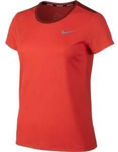 ΜΠΛΟΥΖΑ NIKE DRY RUNNING TOP ΠΟΡΤΟΚΑΛΙ αθλητικά είδη running γυναικα ενδυση t shirts