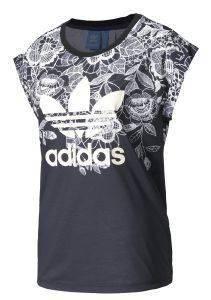 ΜΠΛΟΥΖΑ ADIDAS ORIGINALS FLORIDO TEE ΛΕΥΚΗ/ΜΑΥΡΗ αθλητικά είδη sportswear γυναικα ενδυση t shirts