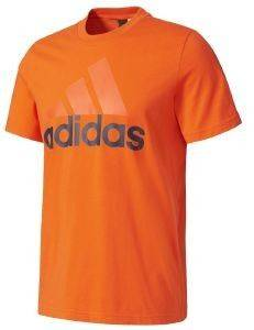 ΜΠΛΟΥΖΑ ADIDAS PERFORMANCE ESSENTIALS LINEAR TEE ΠΟΡΤΟΚΑΛΙ