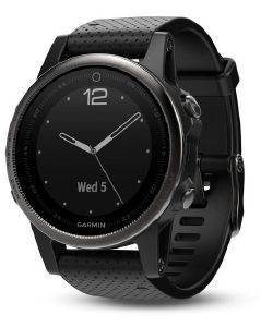 ΡΟΛΟΪ GARMIN FENIX 5S SAPPHIRE SLATE GREY WITH BLACK BAND
