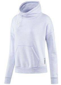 ΦΟΥΤΕΡ REEBOK SPORT ELEMENTS MARBLE COWL NECK SWEATSHIRT ΛΙΛΑ