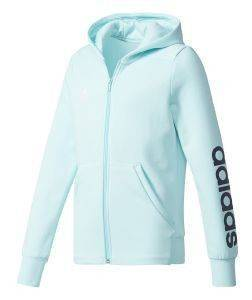 ΖΑΚΕΤΑ ADIDAS PERFORMANCE YOUNG GIRLS LINEAR FZ HOODIE ΘΑΛΑΣΣΙ (128 CM)