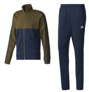 ΦΟΡΜΑ ADIDAS PERFORMANCE BACK-2-BASICS 3 STRIPES TRACK SUIT ΜΠΛΕ/ΛΑΔΙ (5)