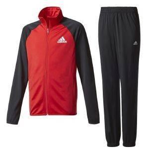ΦΟΡΜΑ ADIDAS PERFORMANCE BOYS TRACKSUIT ENTRY CLOSED HEM ΜΑΥΡΗ/ΚΟΚΚΙΝΗ αθλητικά είδη sportswear παιδι ενδυση φορμεσ