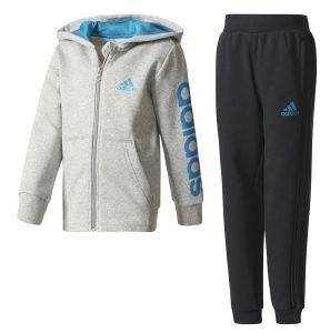 ΦΟΡΜΑ ADIDAS PERFORMANCE HOJO TRACK SUIT ΓΚΡΙ/ΜΠΛΕ/ΜΑΥΡΗ αθλητικά είδη sportswear παιδι ενδυση φορμεσ