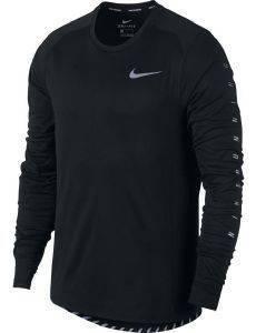 ΜΠΛΟΥΖΑ NIKE DRY FLASH MILER RUNNING TOP ΜΑΥΡΗ αθλητικά είδη running ανδρασ ενδυση μπλουζεσ μακρυμανικεσ