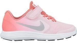 ΠΑΠΟΥΤΣΙ NIKE REVOLUTION 3 (PS) ΡΟΖ αθλητικά είδη sportswear παιδι υποδηση παπουτσια